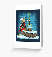 King Ar-THOR Greeting Card