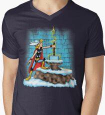 King Ar-THOR Men's V-Neck T-Shirt