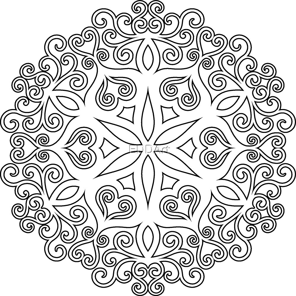 Color Your Own Mandala Diy Coloring Book 02 By Eddart Redbubble