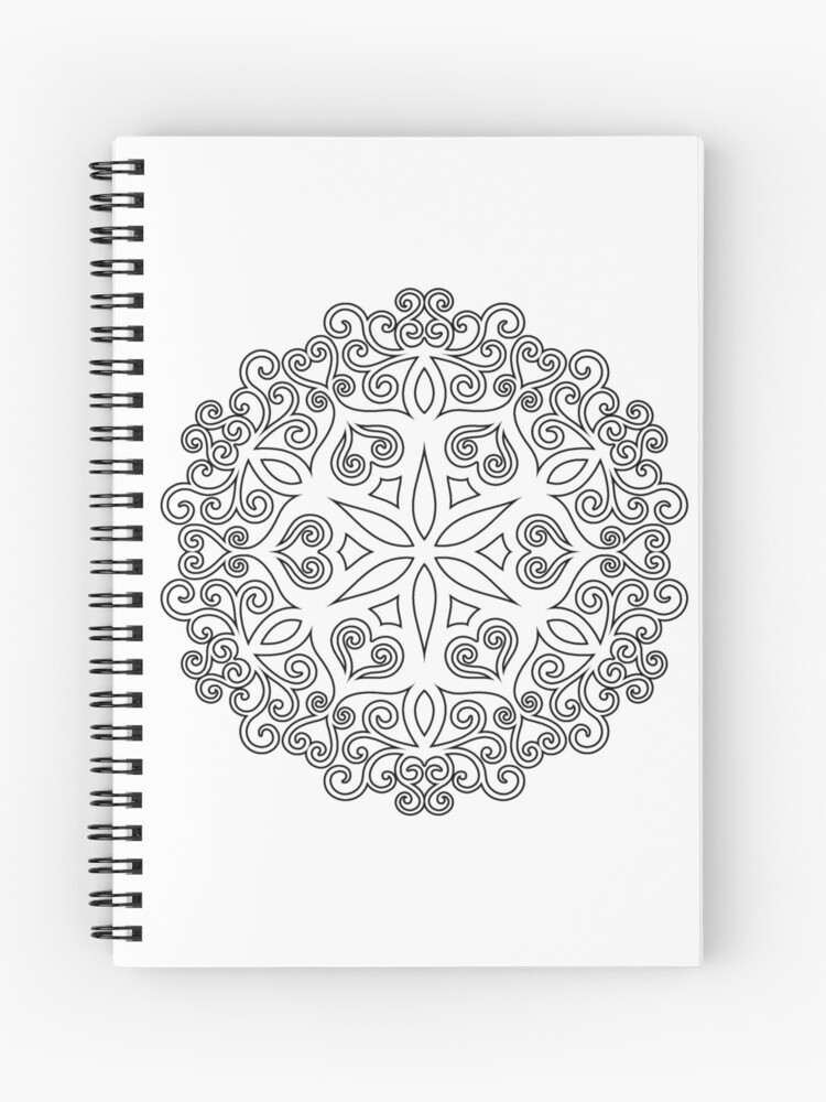 Color Your Own MANDALA - DIY Coloring Book 02 | Spiral Notebook