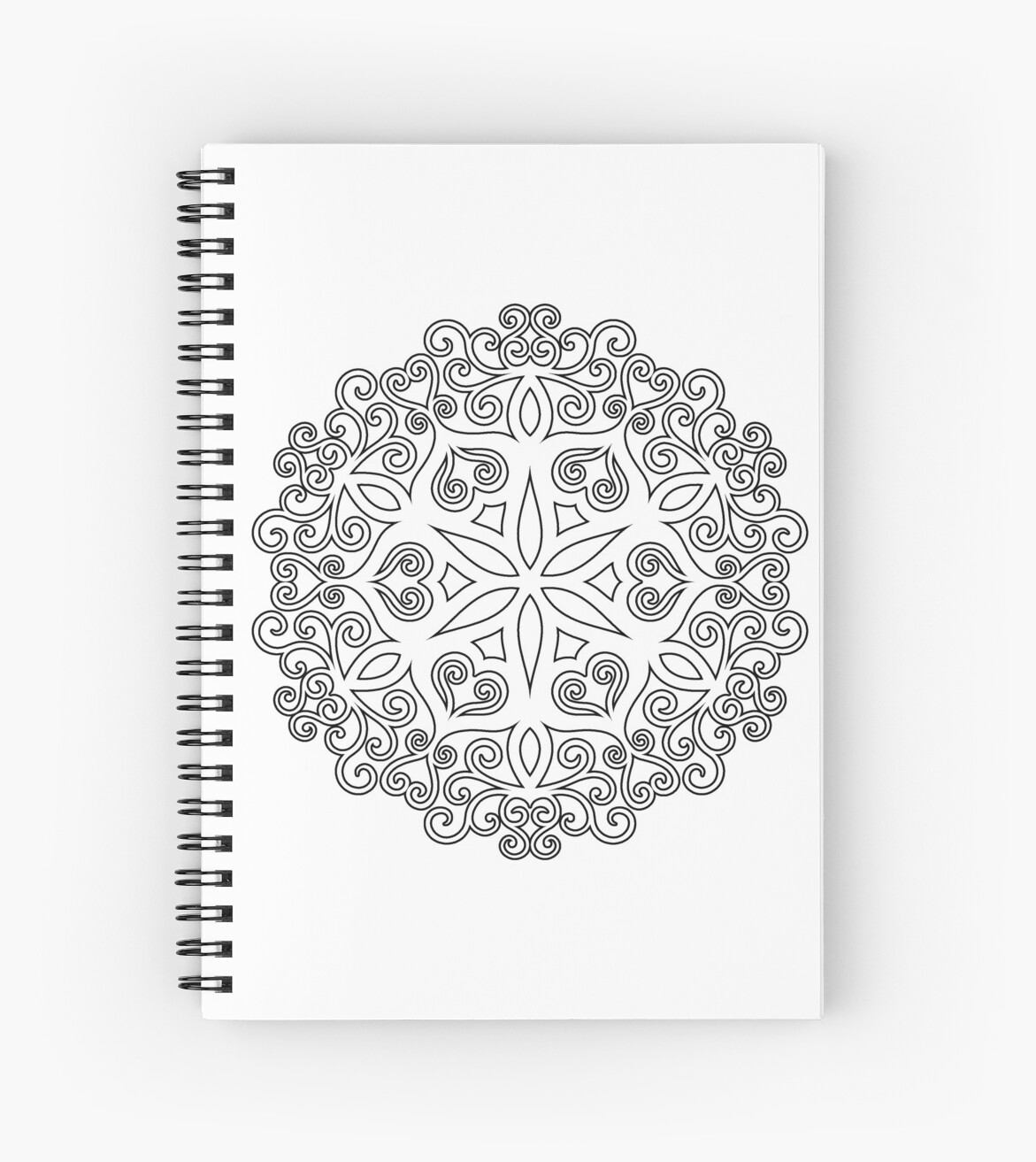 Color Your Own Mandala Diy Coloring Book 02 Spiral Notebook By