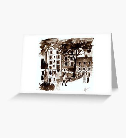 Afternoon Art Greeting Card