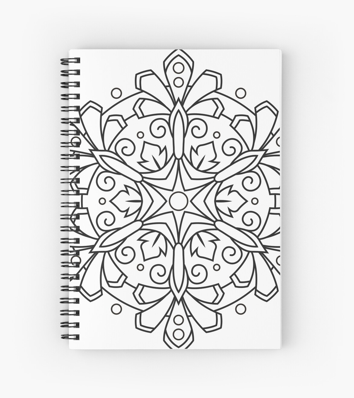 Color Your Own Mandala Diy Coloring Book 03 Spiral Notebook By