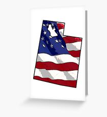 Patriotic Utah Greeting Card