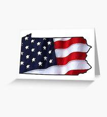 Patriotic Pennsylvania Greeting Card