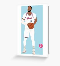 Dwayne Wade 'The R3turn' Miami Heat Minimalist Art // Phone cases, shirts, stickers and more Greeting Card