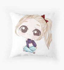 Emmy Chibi Purple Throw Pillow