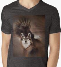 "Eagle wolf eagles wolves ""Eagle wolf"" animals,wildlife,wildlife art,nature Mens V-Neck T-Shirt"