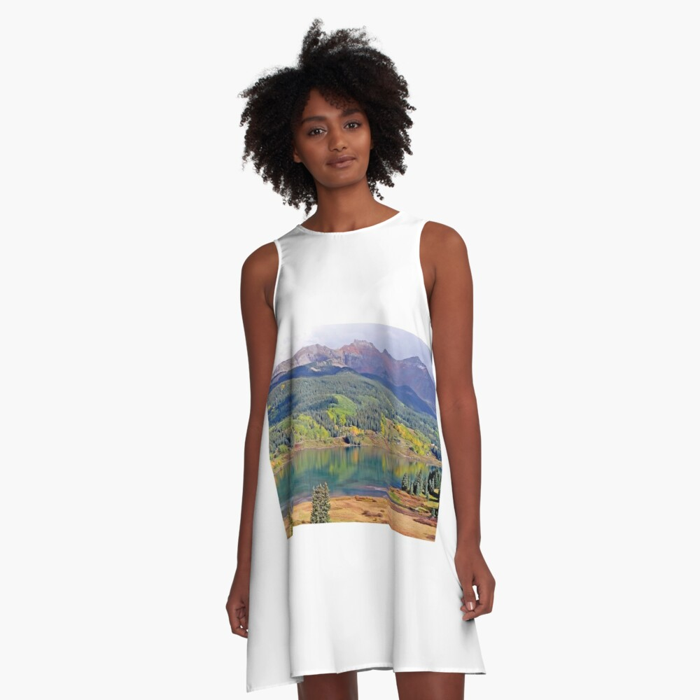 Reflections near Telluride A-Line Dress Front