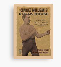 Charles Mulligan's Steak House Ron Swanson  Canvas Print