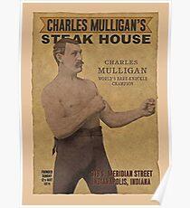 Charles Mulligan's Steak House Ron Swanson  Poster
