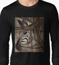 "Zebra ""African animals"" Safari animals,wildlife,wildlife art,nature Long Sleeve T-Shirt"