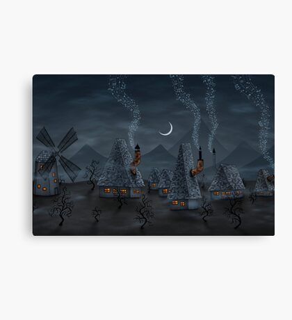 The Village Of Musicians Canvas Print