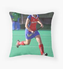 Running with the Ball Throw Pillow