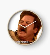 Ron Swanson Parks And Rec Angry  Clock