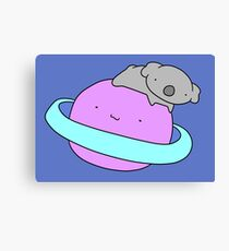 Saturn Koala  Canvas Print