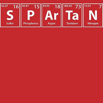 Spartan (S-P-Ar-Ta-N) Periodic Elements Spelling by cerebrands