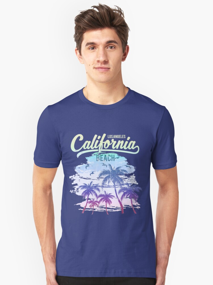 California Beach Vintage Retro Faded Surfer Unisex T-Shirt Front