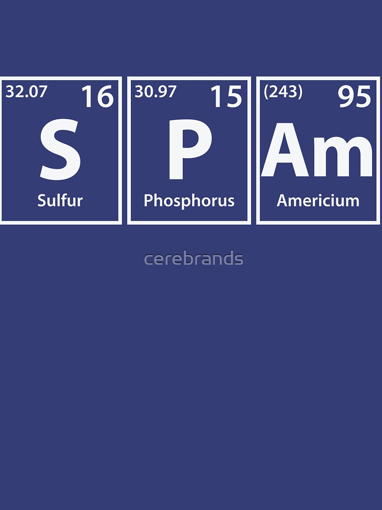 Spam (S-P-Am) Periodic Elements Spelling by cerebrands