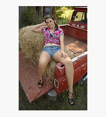 Hay lounging Photographic Print