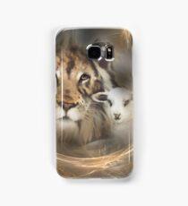 "lion lamb ""lion lamb"" Christ Jesus Christian Spirituality gifts popular ""best selling"" beautiful Samsung Galaxy Case/Skin"