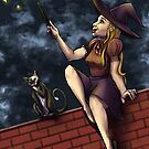 The Witch on the Wall by ardenrachelart