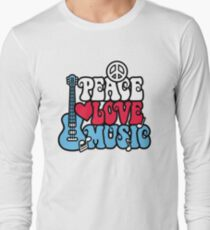 Peace Love Music Long Sleeve T-Shirt