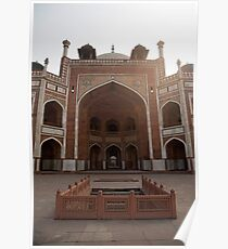 Central Cross section of Humayun Tomb in Delhi Poster
