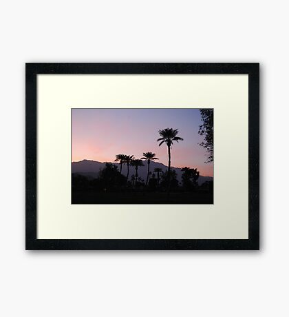 Sunset on the 14th Framed Print