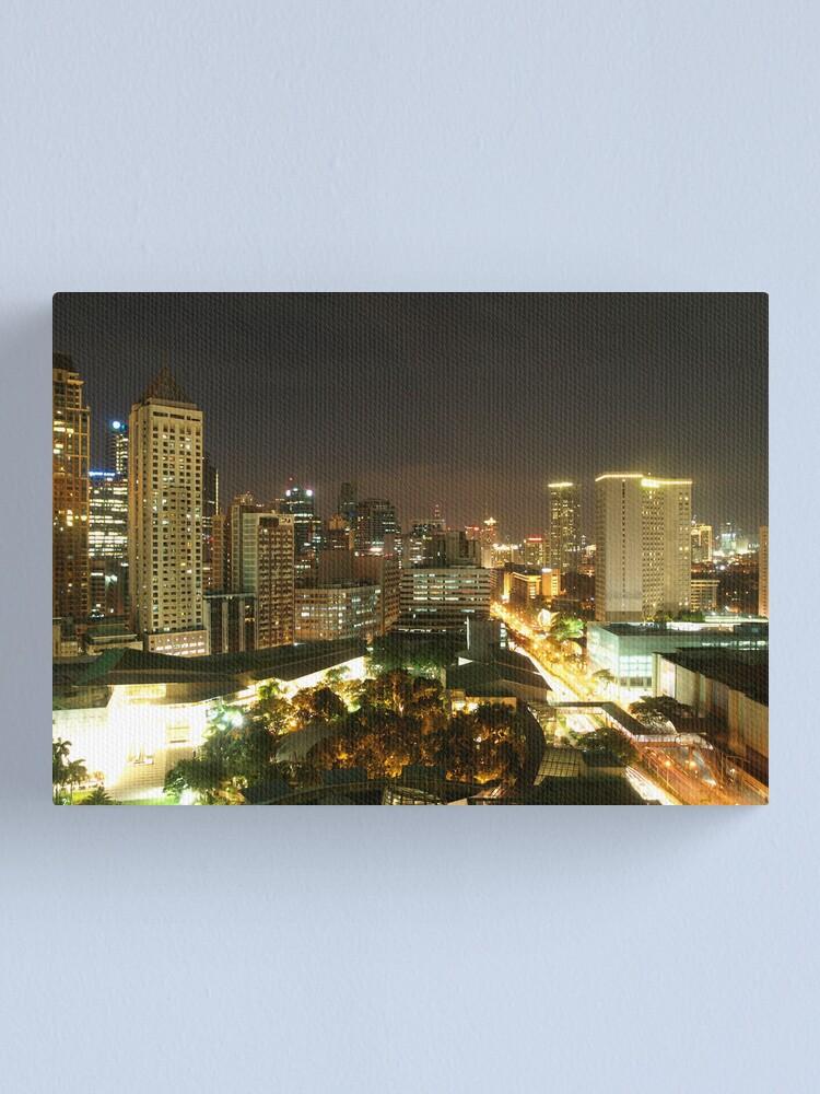 Alternate view of Makati City (Manila) at Night Canvas Print