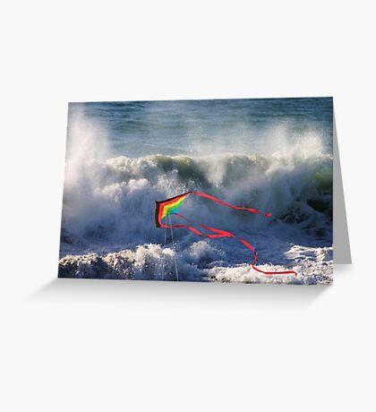 Kite in Surf Greeting Card