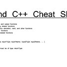C and C++ Cheat Sheet by znamenski