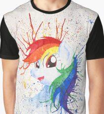Rainbow Splash Graphic T-Shirt