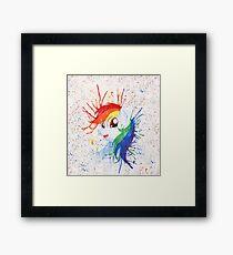 Rainbow Splash Framed Print