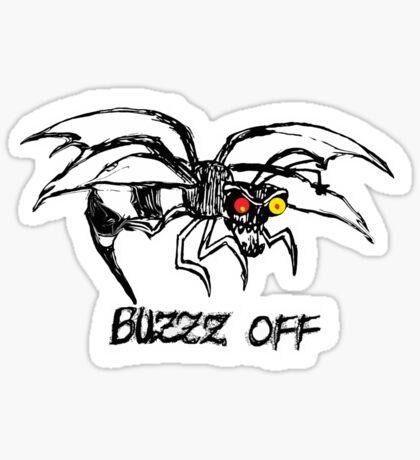 Buzz off t-shirt Sticker