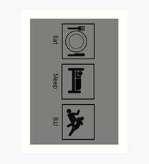 Eat, Sleep, BJJ Art Print