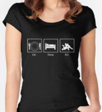 Eat, Sleep, BJJ Women's Fitted Scoop T-Shirt