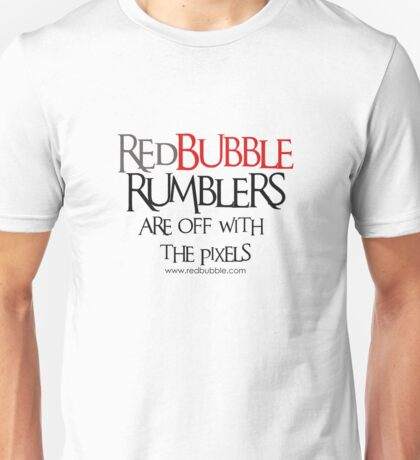 RB Rumble shirt ~ Off with the pixels (black text) T-Shirt