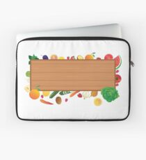 Closeup on table with vegetables in kitchen Laptop Sleeve