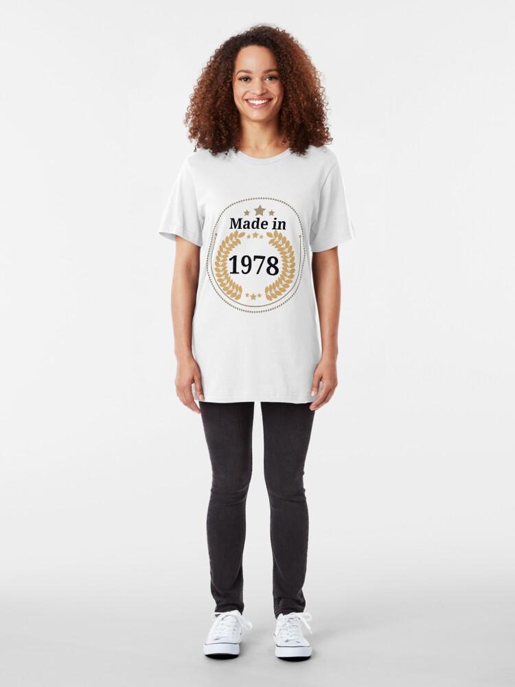 Alternative Ansicht von Hergestellt im Jahr 1978 Slim Fit T-Shirt