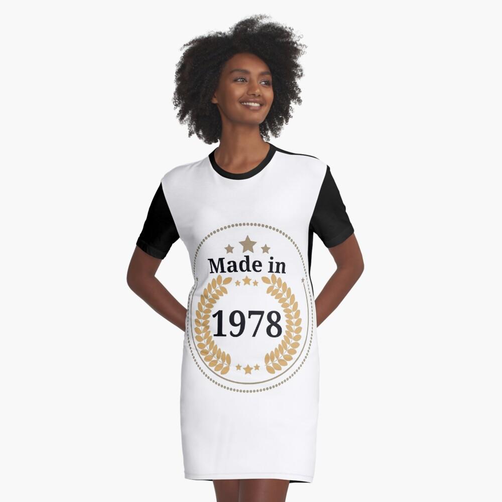 Hergestellt im Jahr 1978 T-Shirt Kleid