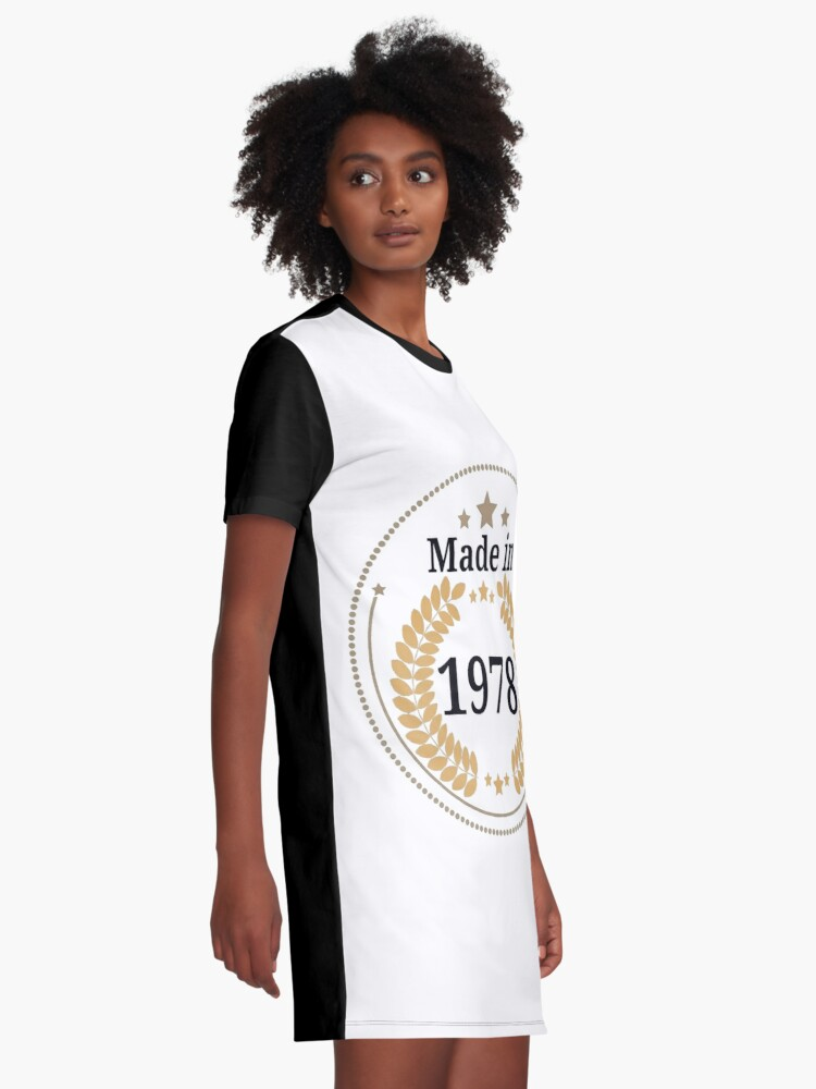 Alternative Ansicht von Hergestellt im Jahr 1978 T-Shirt Kleid