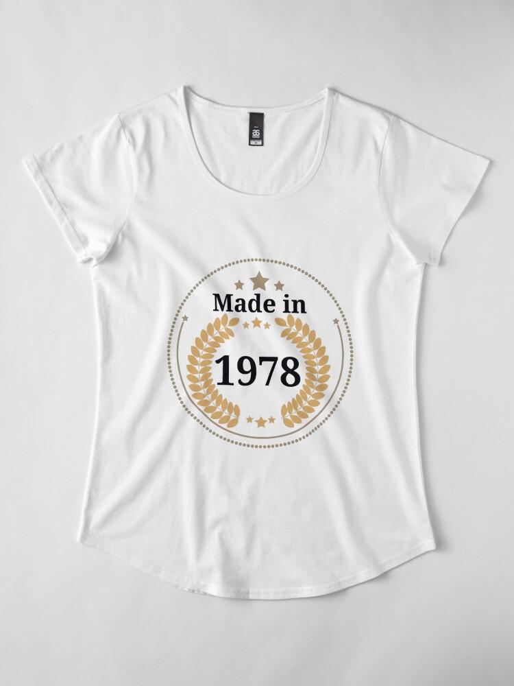 Alternative Ansicht von Hergestellt im Jahr 1978 Premium Rundhals-Shirt