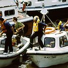 Small boats, River Thames, London, UK by newbeltane