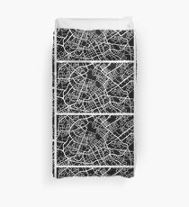Manchester Papercut Kunstkarte Bettbezug