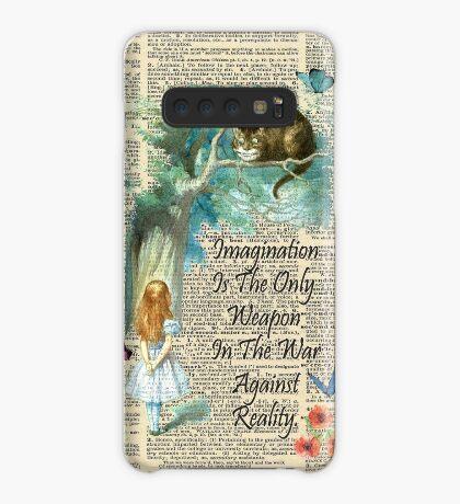Cita de Alicia en el país de las maravillas - Imaginación - Página de diccionario Funda/vinilo para Samsung Galaxy