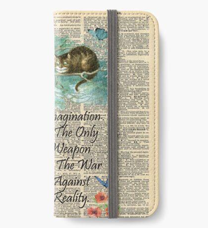 Cita de Alicia en el país de las maravillas - Imaginación - Página de diccionario Funda tarjetero para iPhone