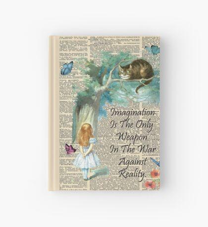 Cita de Alicia en el país de las maravillas - Imaginación - Página de diccionario Cuaderno de tapa dura