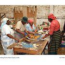 Finishing Touches, Maseru Tapestry, Lesotho by Lillian Trettin