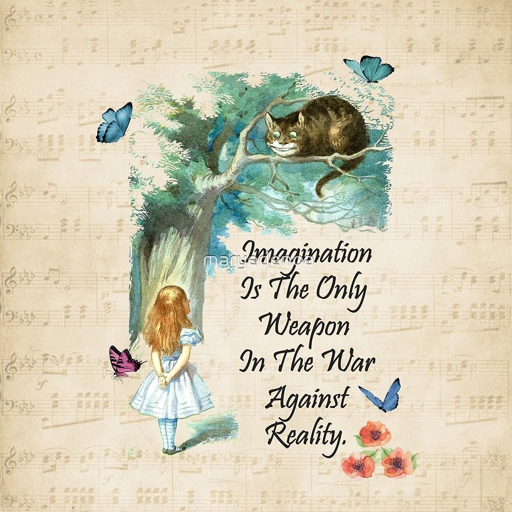 «Cita de Alicia en el país de las maravillas - Imaginación» de maryedenoa